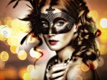 Masked Woman with Bokeh
